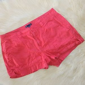 4 for $20 Gap cloth red shorts buttons cuffed